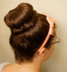 Finished Sock Bun
