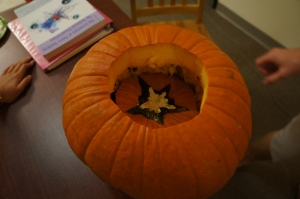 pumpkin carving fail