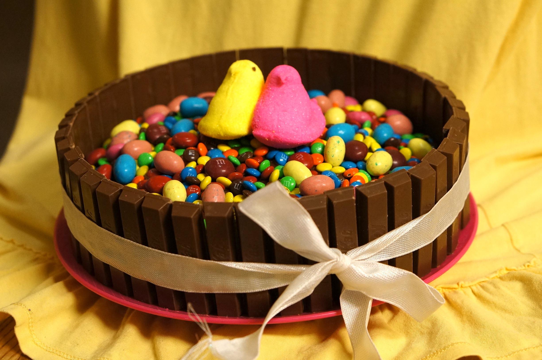 Kit Kat Basket Cake Recipe