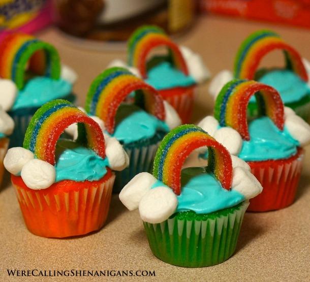 Mini Rainbow Cupcakes Pinterest
