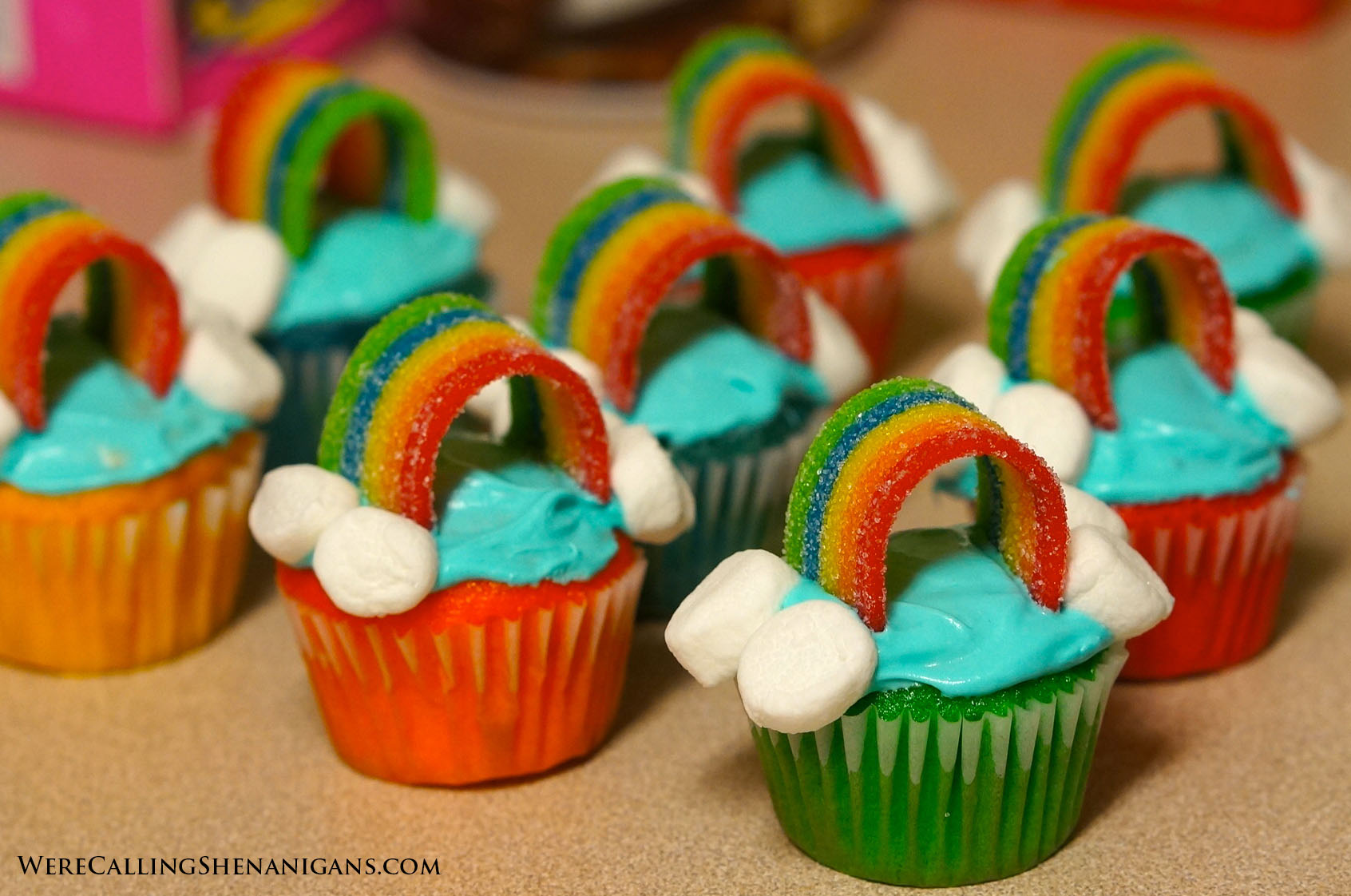 mini rainbow cupcakes we re calling shenanigans