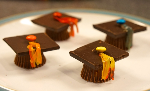 reese's cup graduation caps