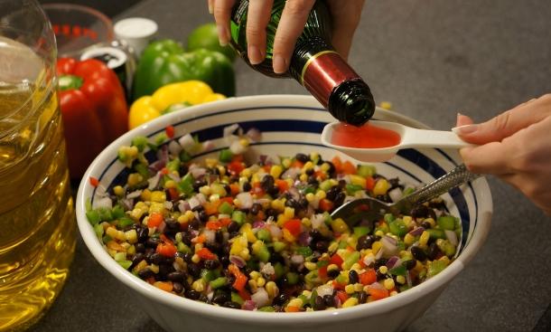 add vinegar to bean dip