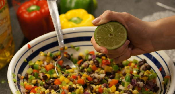 add lime to chip dip