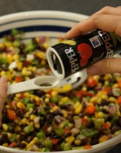 add pepper to bean dip