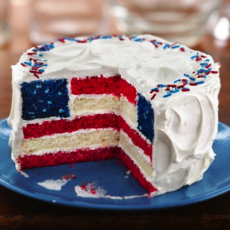 How to Make the American Flag Cake: Click any pic for details |
