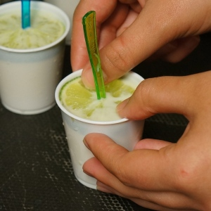 making margarita pops with tequila