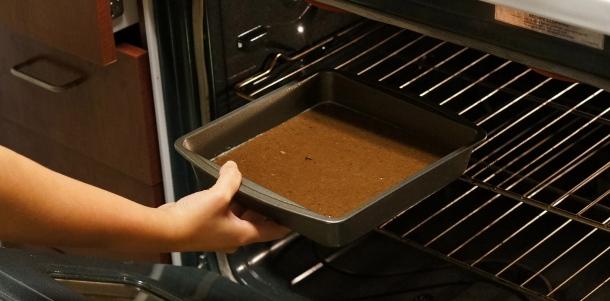 Baking black bean brownies