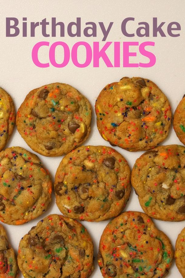 birthday cake fun fetti cookies