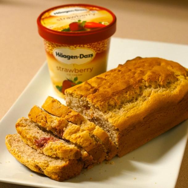 strawberry-Ice-cream-bread-recipe