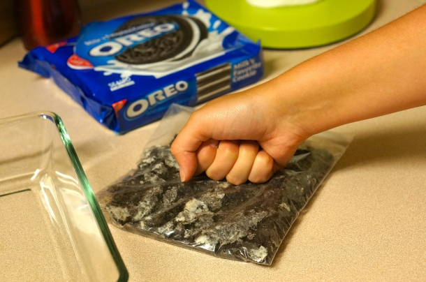 crush-oreos-for-chocolate-lasagna