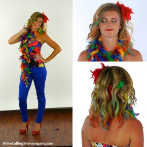DIY Parrot Costume and Makeup