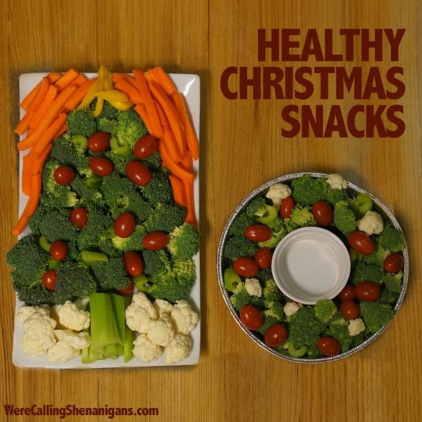Christmas vegetable tray
