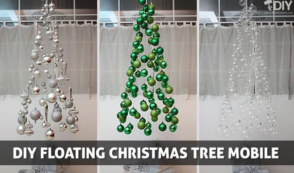 DIY Floating Christmas Tree 605x357
