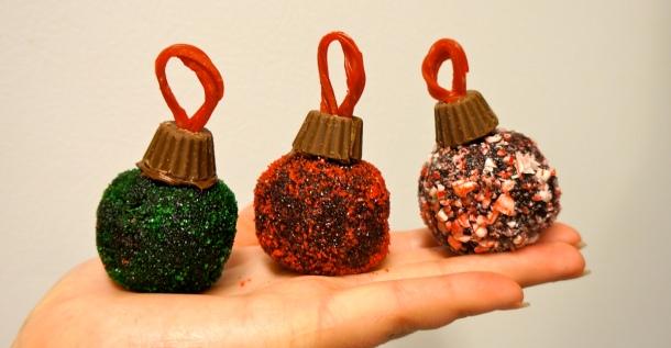Ornament shaped truffles