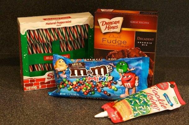 Christmas tree brownie ingredients