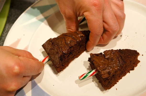 holiday brownies