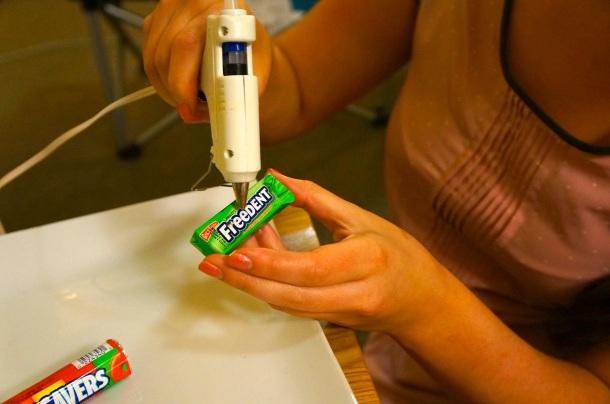 hot glue candy train
