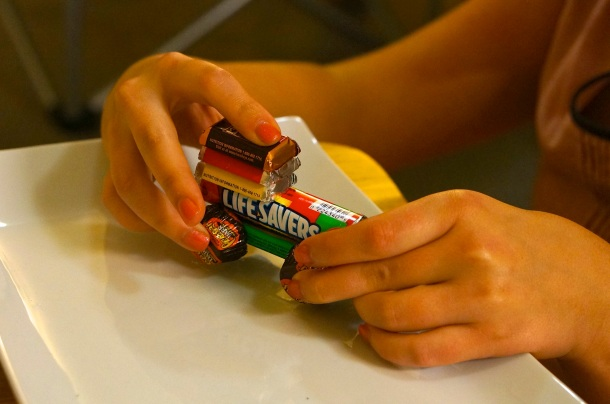 how to make kids candy train craft