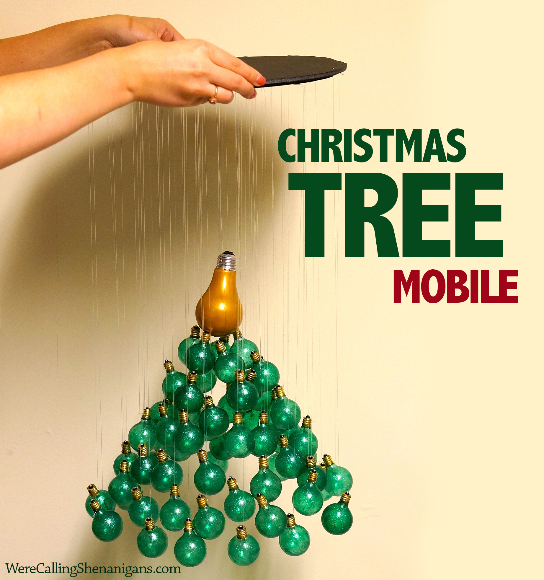 DIY Christmas Tree Mobile Were Calling Shenanigans